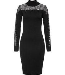 abito con inserto di pizzo (nero) - bodyflirt boutique