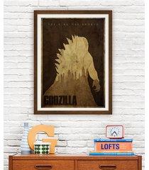 godzilla - plakat 50x70 cm fine art giclee