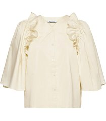 rodebjer libelula blouse lange mouwen crème rodebjer