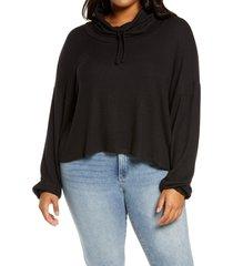 plus size women's bp. hatchi cowl neck pullover, size 2x - black