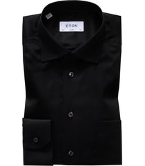 eton shirt zwart classic fit signature twill