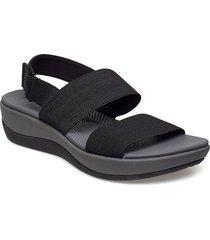 arla jacory shoes summer shoes flat sandals svart clarks