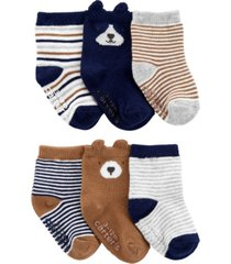 carter's big boy 6-pack bear booties