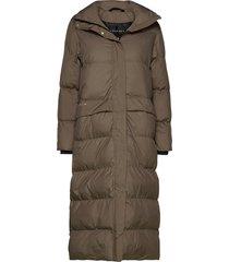 icelyn coat gevoerde lange jas bruin röhnisch