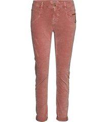 nelly corduroy pant pantalon met rechte pijpen roze mos mosh