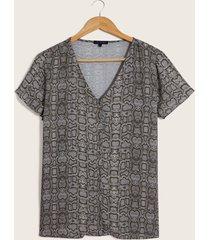 blusa animal print gris 10
