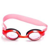 óculos natação vermelho e preto com nylon com silicone - crab