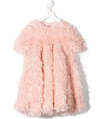 caroline bosmans wide frill flared dress - pink