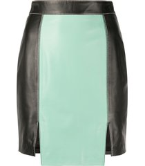 kirin fitted stitched-panel skirt - black