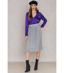 rut&circle pleated skirt - grey