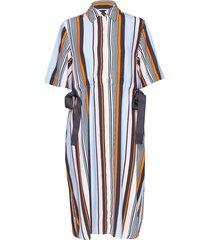 byatt drape striped shirt dres knälång klänning multi/mönstrad french connection