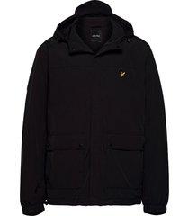 hooded pocket jacket tunn jacka svart lyle & scott
