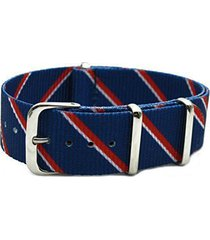 hns nato 20mm g10 double graphic navy red white strip nylon watch strap polis...