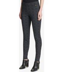 calvin klein plaid-check compression pants