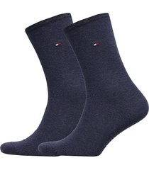 th women sock casual 2p lingerie socks regular socks blå tommy hilfiger