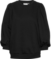 nankitagz sweatshirt t-shirts & tops long-sleeved zwart gestuz