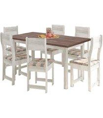 conjunto mesa com 6 cadeiras indékes dallas, salinas avalon e alaska