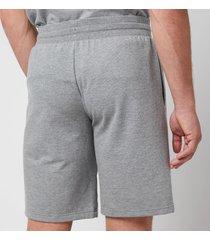 emporio armani men's all over logo terry bermuda shorts - grey melange - xl
