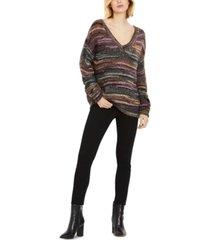 a pea in the pod v-neck boyfriend maternity sweater