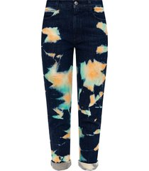 jeans with tie-dye effect
