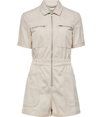 women's only evory kamil life romper, size small - beige