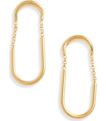 women's madewell timespan hoop earrings