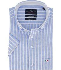korte mouwen overhemd portofino strepen