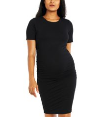 luxe side ruched maternity dress