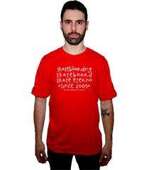 camiseta manga curta skate eterno bask vermelho - kanui