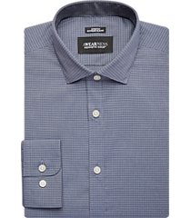 awearness kenneth cole blue check extreme slim fit dress shirt