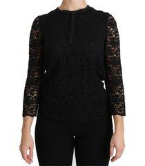 lace met lange mouwen nylon blouse