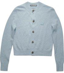 light blue wool cardigan