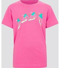 t-shirt i bomull - rosa