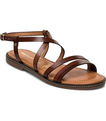 woms sandals shoes summer shoes flat sandals brun tamaris