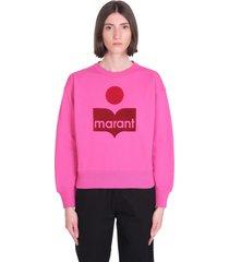 isabel marant étoile mobyli sweatshirt in fuxia cotton