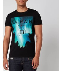 balmain men's printed t-shirt - multi - xl