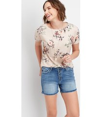 maurices womens kancan™ high rise button fly 4in shorts blue