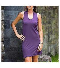 jersey knit dress, 'new denpasar purple' (indonesia)