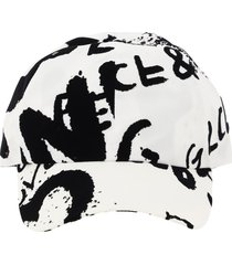 dolce & gabbana graffiti print baseball cap