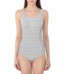 mouse ears polka dots grey women's swimsuit