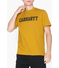 carhartt wip s/s college t-shirt t-shirts & linnen black