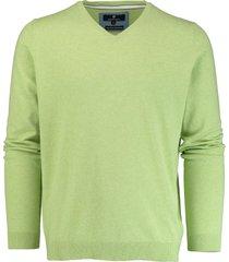basefield lichtgroene v-hals pullover 219013879/501