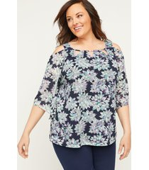 petal vision cold-shoulder top