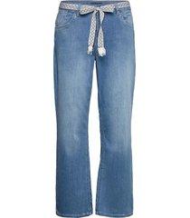 crfie flared jeans - coco fit 7/8 jeans utsvängda blå cream
