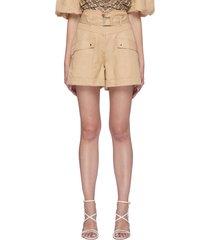 'prisha' belted cargo shorts