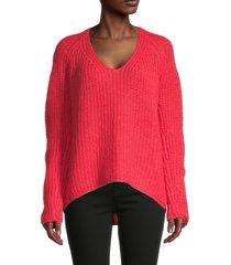 rag & bone women's joseph v-neck sweater - coral - size xs