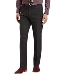 paisley & gray slim fit suit separates dress pants red windowpane
