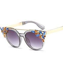 donna vintage occhiali da sole anti-uv a forma di occhi di gatto con cristallo diamante