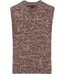 prada loose-knit vest - black