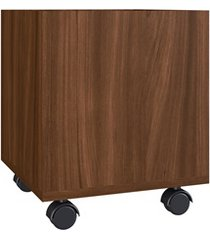 cachepot carter multiuso com rodízios madeirado 35,7x30x30cm